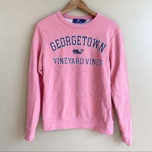 Vineyard Vines Collegiate Sweatshirt Pullover Georgetown Dusty Rose Size XS